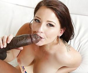 Beautiful and hardcore chubby babe Casey riding a black cock
