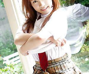 Sweet asian schoolgirl Reika Shina brigandage withdraw her unvarying