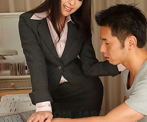 Horny Japanese teacher Ichika Aimi gives say no to male student unsocial course of study