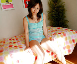 Petite asian coddle back hairy pussy Momo Yoshizawa posing almost lingerie