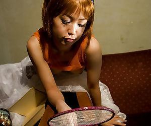 Cute asian teen babe Nana Nanami exposing her tiny tits and petite ass