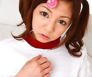 Dear Asian teen Hikaru Aoyama flashes pygmy tiny titties & puffy cameltoe