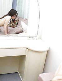 Japanese MILF Miu Shinohara enjoys a fixed jock smoking her unshaved pussy