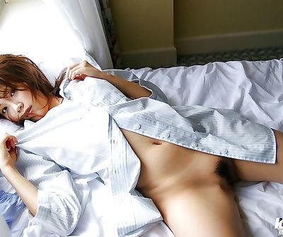 Nasty asian coed Asami Ogawa showcasing her tempting curves