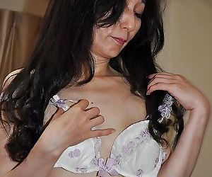 Asian mature descendant Nobue Toyoshima vandalization and teasing say no to hairy twat