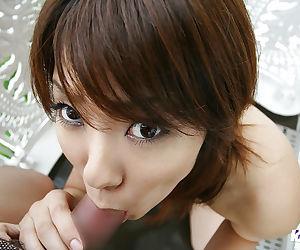 Cute Asian coed Yuzuka sucking & hand fucking dick to pay for classes