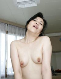 Asian gal Mari Inui gets her pussy pleased with a stiff cock and a vibrator