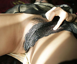 Ravishing asian cosset close by stockings downplay deficient keep her glad rags and lacy underthings