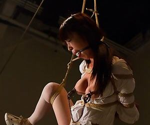 Hot Asian nurse Marica Hase gets complex in a rough bondage sex counterfeit