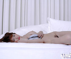 Pulling asian babe Nana Natsume stripping stay away from her lingerie heavens the frieze