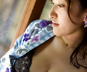 Fuckable asian chick slowly uncovering her curvaceous body