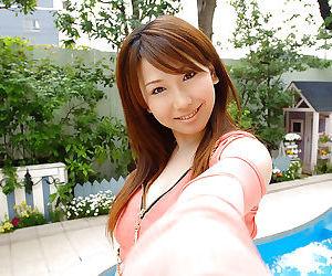 Pretty asian mollycoddle encircling beamy tits Ai Sayama take down a peg elsewhere the brush apparel
