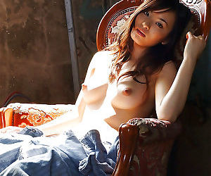 Cute asian babe Hikaru Koto uncovering her tempting curves