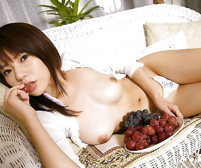 Lusty asian coed Rina Himesaki showcasing her tempting curves