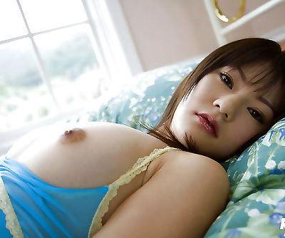 Lusty asian coed Rina Himesaki showcasing her tempting curves