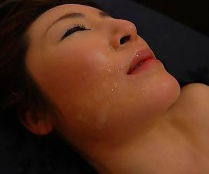 Asian MILF Chiho Sakurai gets her shaggy gash vibed together with cocked up