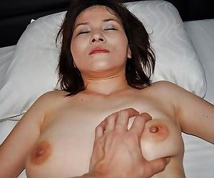 Horny asian MILF Chiho Fujii has some pussy toying and fingering fun