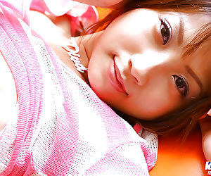 Foxy asian non-professional Haruka Morimura revealing her for detail jugs plus neat fanny