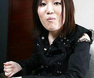 Shy asian babe Mina Takasaki slowly uncovering her slipy curves