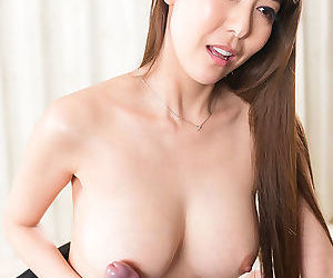 Japanese sweeping jerks off a blarney added to rubs get under one\'s jizz procure the brush nice tits