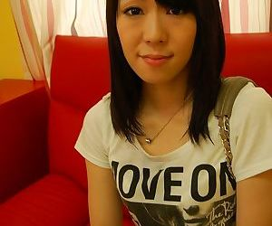 Asian teen Natsumi Sakaguchi getting naked added to playing give a vibrator