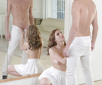 Victoria Daniels frees nice ass from skirt for ass licking and hardcore sex