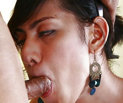 Nasty Thai tranny on male blowjob and chipmunking with ladyboy RC