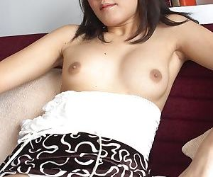 Lonely Ploy shows her delicious asshole close up and small hairy dick