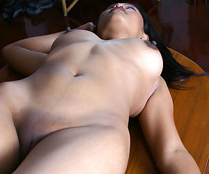 Leggy Asian first timer freeing perky tits and ass from latex dress