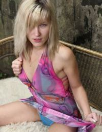Outdoor masturbating scene features amateur teen babe Olive