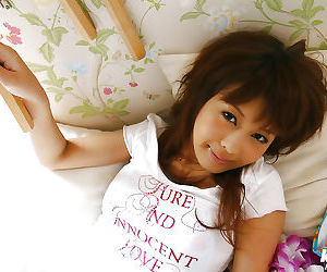 Thrilling asian teen toddler encircling sexy feet showcasing will not hear of sensuous curves
