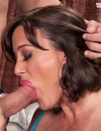 Middle-aged lady Ruby Thompson works her way up to a anal fucking and creampie