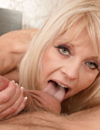 Over 50 blonde Milena dripping jism from asshole after butt fucking