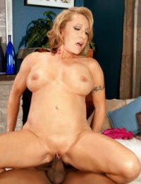 Fit older lady Luna Azul realizes her interracial sex fantasies at long last