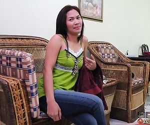 Petite Filipina female undresses before getting fucked by a sex traveller