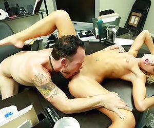 Office pornstar Katerina Kay gets fucked hard in her tight vagina