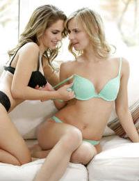 Teen dykes Jillian Janson and Kimmy Granger free nice asses from thongs