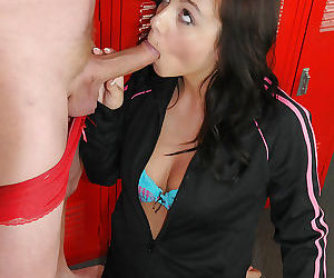 Mindy Lynn found a big cock and wants to swallow it right now