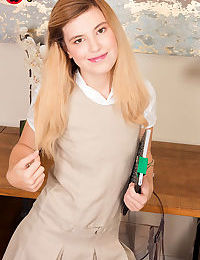 Schoolgirl Madison Breeze disrobes to show stepdad tiny tits & give handjob