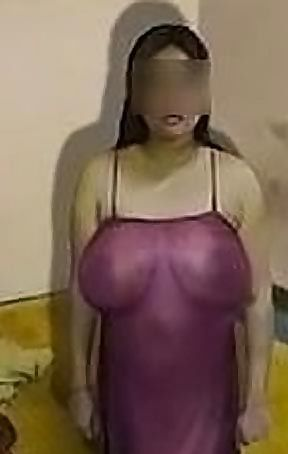 Indian Slut Aunty Sexy Desi Whore Chudani Raandi Posing in Tight Dress Showing her Big Boobs to customer before getting Fucked for money