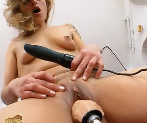 FUCKING MACHINES blonde pussy