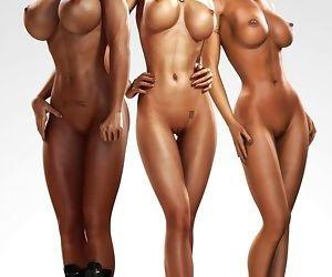 3 Women 3d Huge tits