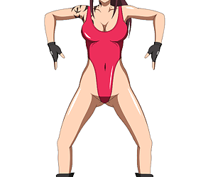 animated_gif artist_request black_lagoon female_only femsub haigure happy_trance leotard ponytail revy_ solo spread_legs squatting white_background