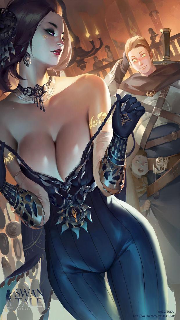 Lesbian warrior vs lesbian sorceress.