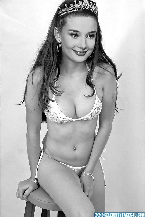 Audrey Hepburn bikini queen