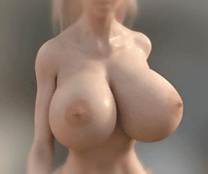 3d bouncing tits