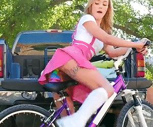 Dildo bike seat. Kali Roses - Why She Likes To Bike