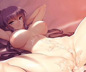 Nude Busujima Saeko Animated Creampie by Fuya