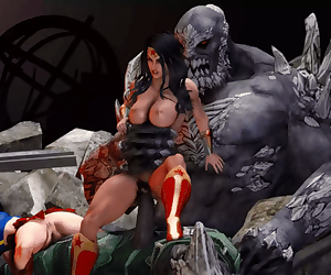 Wonder Woman Gets Impregnated By Doomsday
