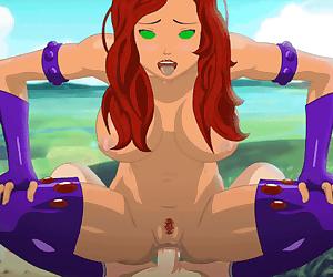 Starfire anal cowgirl animation